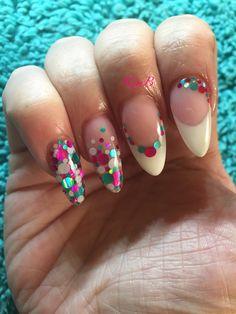 My own! Confetti nails  Instagram @prettynailsbykim