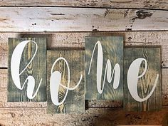 Distressed Home Wood Sign