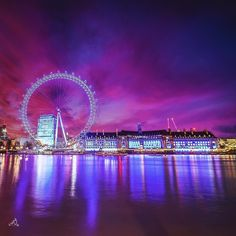 London Eye - UK  Picture by @A_Alnuaimi111 Good night world  by wonderful_places