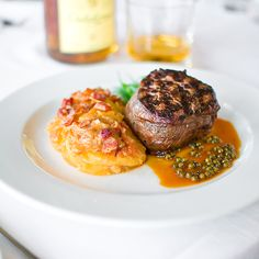 Filet Mignon at Hawks Main Course Dishes, Steak Butter, Butter Recipe, Hawks, Pork Recipes, Fine Dining, Free Food, Catering, Filet Mignon