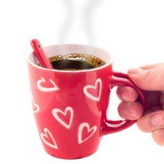 Hearts Mug with Teaspoon