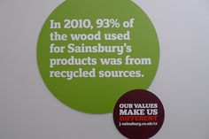 In 2010, 93% of wood used in Sainsbury's products was from recycled sources by J Sainsbury, via Flickr