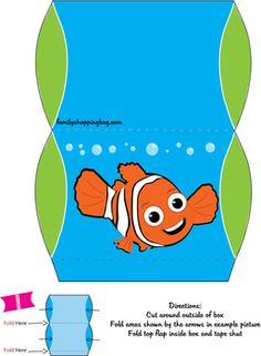 Favor Box, Finding Nemo, Favor Box - Free Printable Ideas from Family Shoppingbag.com