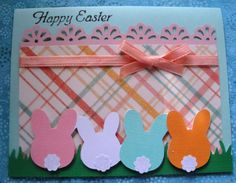 Cute and simple Easter card. Bunnies made with the Doodle Charm cartridge.