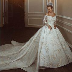 Princess Ball Gowns, Princess Wedding Dresses, Dream Wedding Dresses, Bridal Dresses, Gown Wedding, 1920s Wedding, Wedding Gowns With Sleeves, Long Sleeve Wedding, Custom Wedding Dress