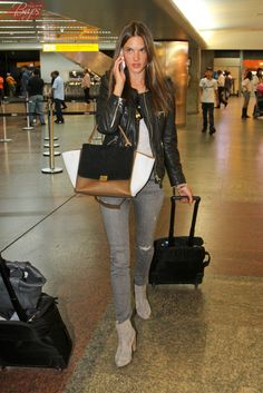 ALESSANDRA AMBROSIO ARRIVING AT THE SAO PAULO AIRPORT-JULY 16, 2013