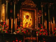 The Jasna Gora Monastery in Czestochowa is a famous Polish shrine to the Virgin Mary. The Black Madonna is credited with many miracles. Luke The Evangelist, Our Lady Of Czestochowa, Jesus Stories, Poland Travel, Jesus Lives, Best Mother, Madonna, Blessed Mother, Virgin Mary