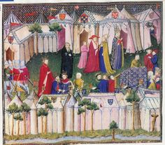 Princes of the East Princes of the West Master of the Cite des Dames: Livre du Chevalier Errant by Thomas de Saluces. c.1404 Bibliotheque Nationale MS.