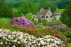 A look over the gardens towards Scotney Castle.