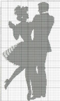11 x 18 Wedding Cross Stitch Patterns, Counted Cross Stitch Patterns, Cross Stitch Embroidery, Crochet Chart, Thread Crochet, Cross Stitch Silhouette, Monks Cloth, Fillet Crochet, Baby Cocoon