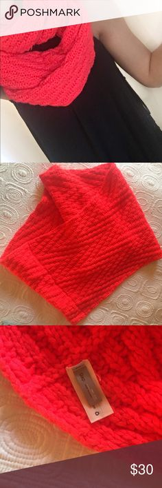 GAP scarf Beautiful, thick and sturdy GAP brand knit Infiniti scarf. Like new. Wraps around twice. Super cozy. Coral pink mix. Other