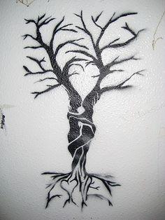 tree stencil detail by dentist_tx, via Flickr