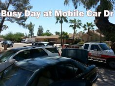 A busy day at Mobile Car Dr.