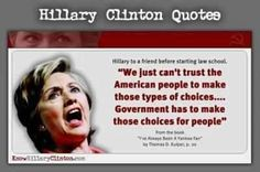 Just another good reason Hillary should never be president!    Do you REALLY believe government can make the best choices for YOUR life? Seriously?