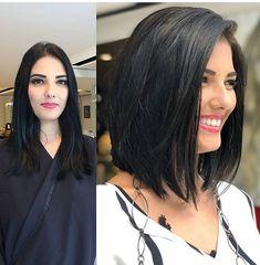 MY Natural haircolor Black + Long bob short haircuts, Love this Look