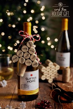 Ready to branch out and be creative this holiday season? Get gifting with this homemade Wine Cork Christmas Tree that adds a heartfelt, personalized touch to any gifted bottle of Sutter Home Wine. Wine Cork Crafts, Bottle Crafts, Cork Christmas Trees, Christmas Crafts, Sutter Home, Homemade Wine, Cork Art, Cute Crafts, Wine Corks