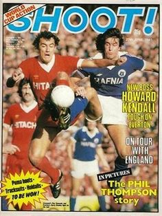 magazine for July 1981 featuring Liverpool v Everton on the cover. School Football, Football Cards, Football Players, Football Stuff, Liverpool Football Club, Liverpool Fc, Merseyside Derby, Magazine Front Cover, Sir Alex Ferguson