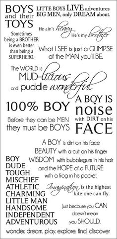 Boys Rub-On Quotes 471429