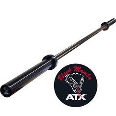 Original ATX® Power Bar - Black Mamba. Ob für Functional Fitness, Gewichtheben - oder Powerlifting, ATX® Hantelstangen halten auch extremsten Anforderungen stand und werden somit höchsten Ansprüchen gerecht. Stirnseiten hochwertig verkapselt, mit ATX® Farbcode-Logo: Black Mamba #hantelstange #atxpower #megafitness http://www.megafitness-shop.info/Kraftsport/Hanteln-Gewichte/Hantelstangen/50-mm/ATX-Power-Bar-Black-Mamba-700-kg-Federstahl--3597.html