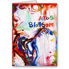 lotus blossom greeting cards