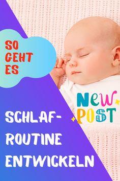 Die Schlafgewohnheiten deines Kindes werden unregelmäßig sein und oft wird es vorkommen, dass der Rest der Familie schlafen will, nur dein Baby nicht.  Indem man bereits so früh wie möglich eine Routine mit dem Baby errichtet, stellt man sicher, dass der Übergang zu regelmäßigen Schlafgewohnheiten sowohl schneller als auch reibungsloser verläuft. Baby Im Mutterleib, Routine, Rest, Face, Kids Sleep, Sleep Better, Falling Asleep, Breast Feeding, Newborns