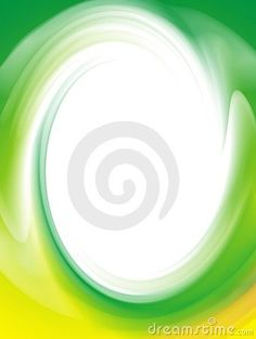 Abstract computer illustration of green and yellow twirl