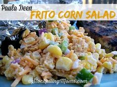 Paula Deen Frito Corn Salad recipe is out of this world good! Only 6 ingredients! Perfect side dish for any barbecue.