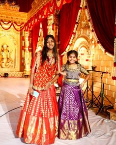 Half Saree Lehenga, Kids Lehenga, Sarees, Kids Indian Wear, Kids Ethnic Wear, Dresses Kids Girl, Cute Dresses, Kids Outfits, Half Saree Function