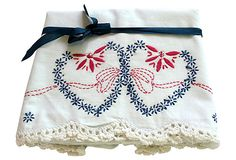 Two Hearts Embroidery Pillowcases, Pair on OneKingsLane.com