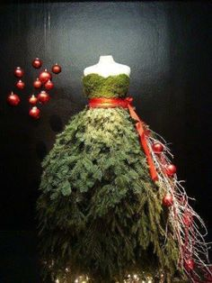 "Christmas dress!I would have a sign that says ""You Wear the Holidays Well!"""