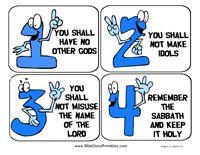Free Ten Commandment printables - flashcards, bookmarks