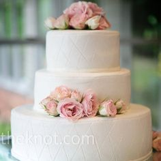 Romantic Quilted Wedding Cake