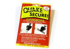 Quake Secure Reusable Putty Adhesive. This one is reported to have more sticking power than QuakeHold (which can be good or bad, depending on the application).