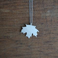 Maple Leaf Necklace. I need this