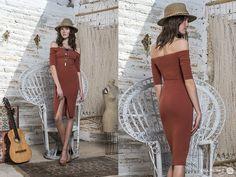 Consigue un look elegante y effortless con este relajado vestido que deja los hombros al descubierto. #Eclectica #OffShoulder #NuevaColeccion