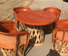 Charmant Hand Made Mexican Leather Furniture