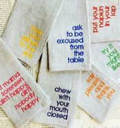 Don't Be THAT Mom, Table Manners for Kids Dinner Napkins | A-List Mom