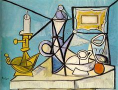 Пабло Пикассо. Натюрморт с подсвечником. 1944 год