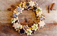 Couronne de Noël sablée aux chocolats