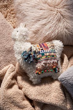 This llama is too cute! Love this for baby's room! Furry Llama Pillow #llamallama #forbaby #affiliate #llamapillow