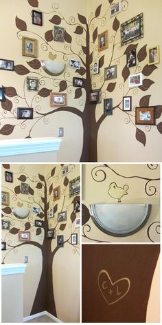 I painted this family tree mural for my MIL, @Lynette Skelton Bright  -- love how it turned out!