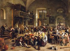 Jan Steen - Festivities in a Tavern at the Louvre Museum Paris France