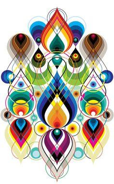 Vectorfunk Rorschach posters by Matt W. Moore