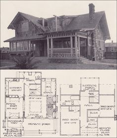 Two story 1910 simple swiss chalet henry wilson for Swiss chalet house designs