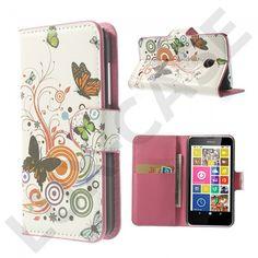 Moberg (Sommerfuglar & Sirkel) Nokia Lumia 630 / 635 læretui