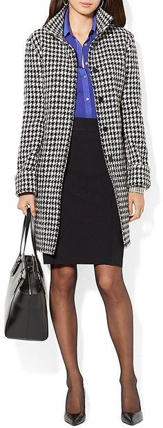 Black Houndstooth Coat by Lauren Ralph Lauren. Buy for $425 from Bloomingdale's