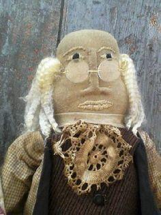 Americana Primitive Ben Franklin by ArtisticOriginals on Etsy, $68.00