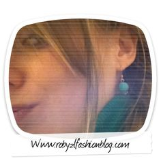 #emerald #earring #me #today #more #pics now on my #fashionblog www.robyzlfashionblog.com #style #look #fashion