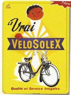 PLAQUE METAL 20X15cm PUB RETRO LE VRAI VELO SOLEX VELOSOLEX: Amazon.fr: Cuisine & Maison