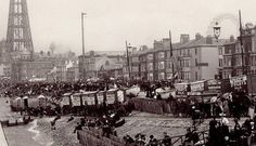 Annes on the Sea Lancashire - Local History - Bathing Machine Bye-Laws and charges Blackpool 1882 Old Pictures, Old Photos, Blackpool Uk, British Seaside, Local History, Countryside, Paris Skyline, Bathing, Places To Go
